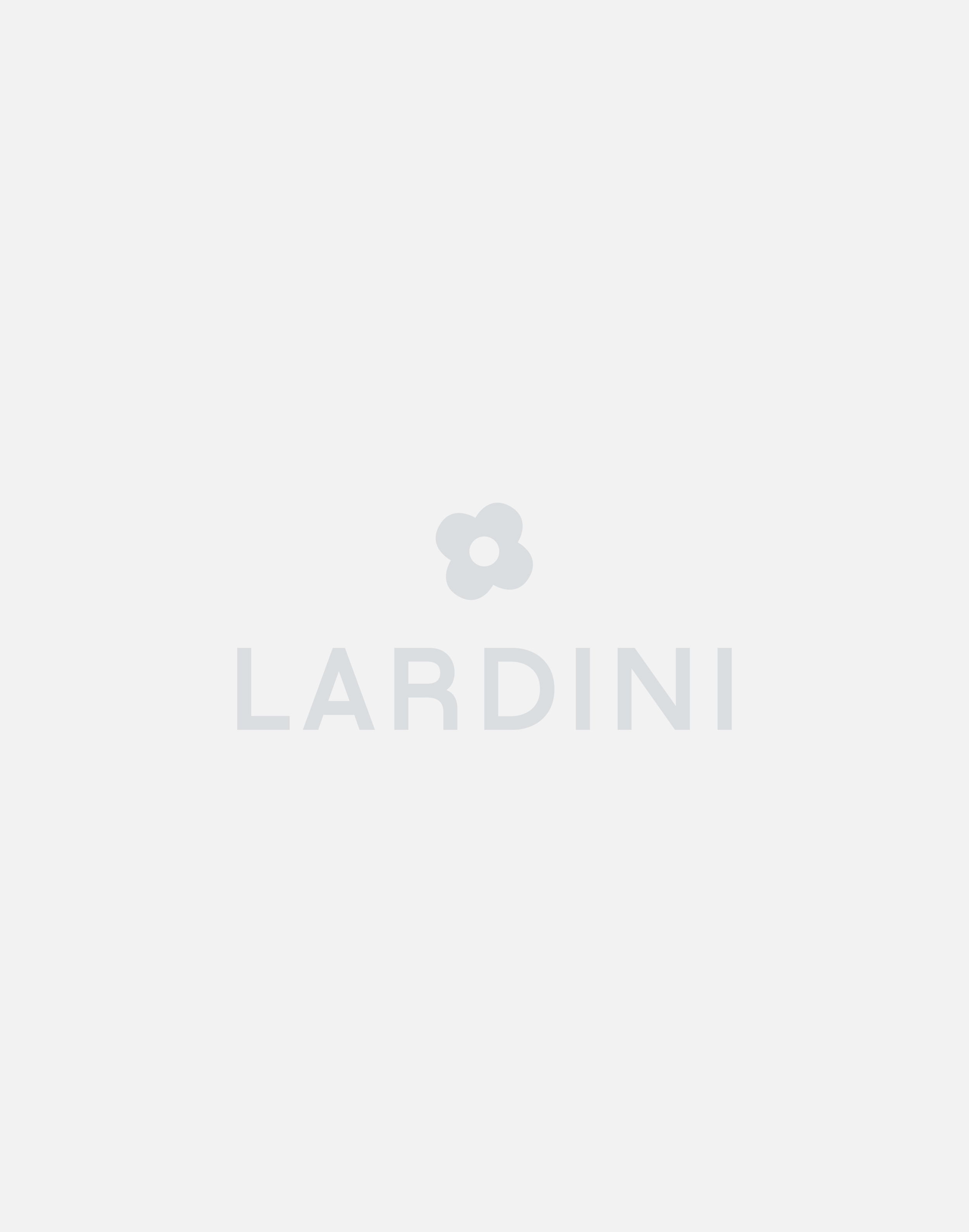 Beige and blue striped trousers with drawstring