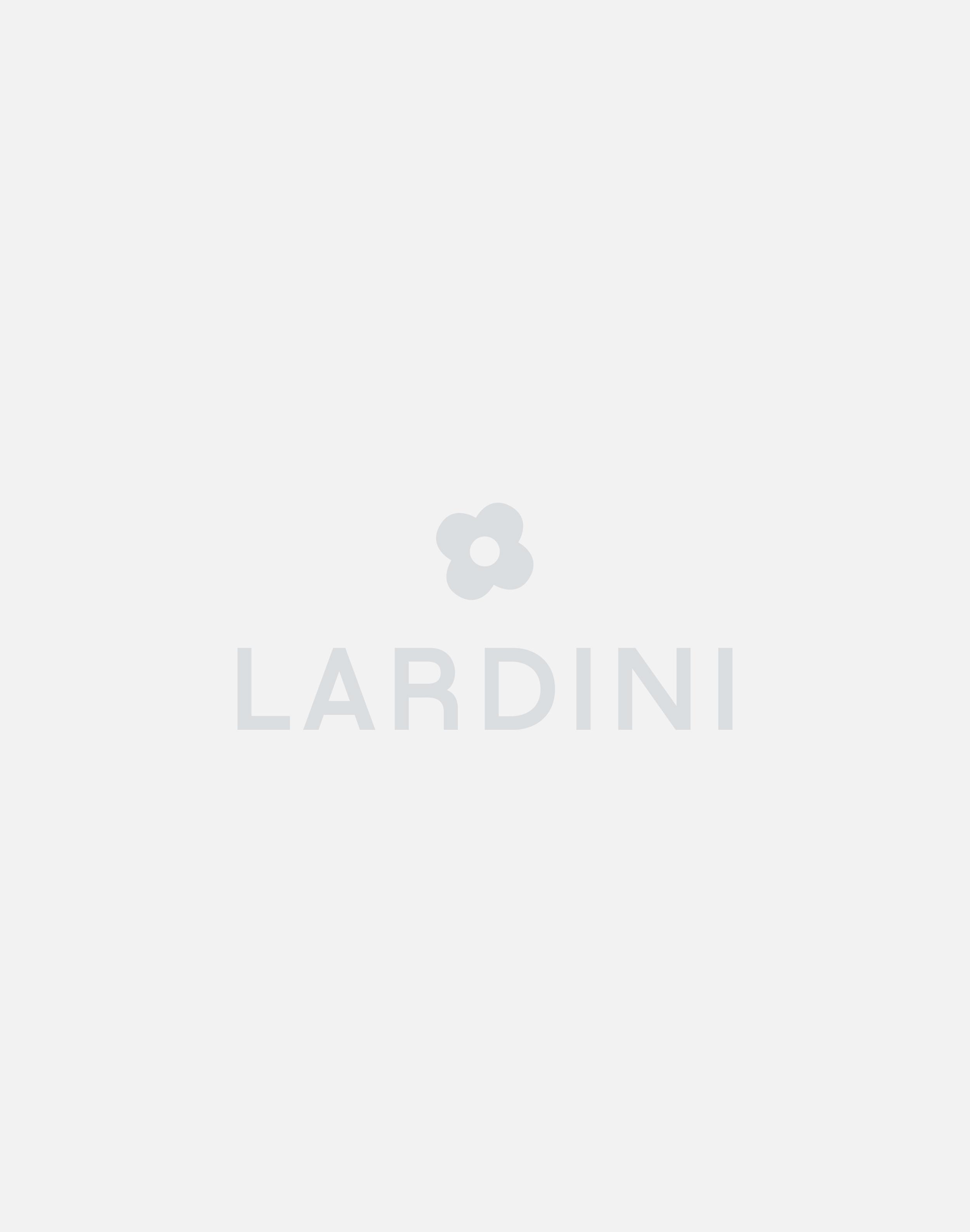 Blue pocket square with geometric design